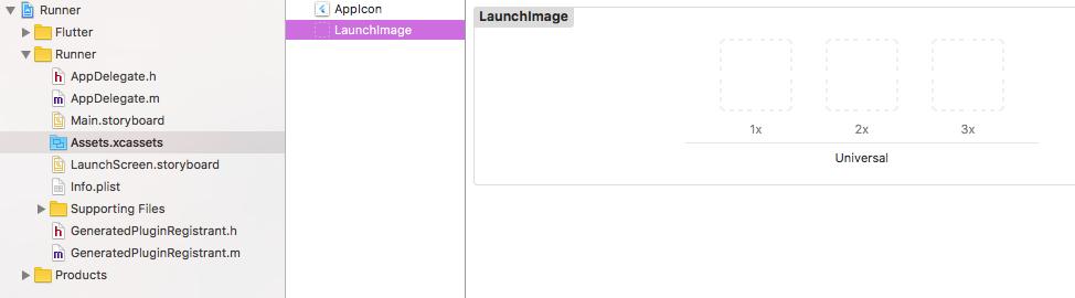 Platform assets: Updating the launch screen
