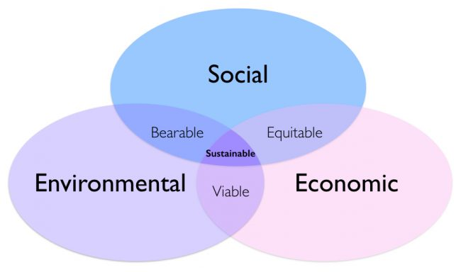 Sustainable development domains